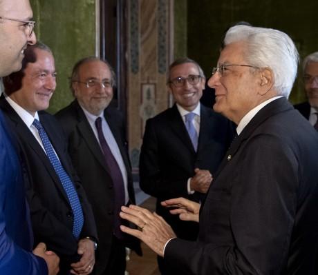 Il Presidente Mattarella con i rappresentanti della stampa italiana